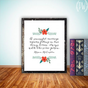 Wedding Quote Art Printable, Print wall art marriage anniversary decor ...