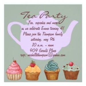 Invitation From Zazzle Tea