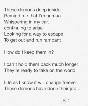 Demons #poetry #truth