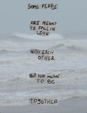 Some people are meant to fall in love with each other but not meant to ...
