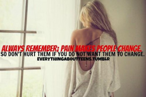Change quotes and sayings about life pain people