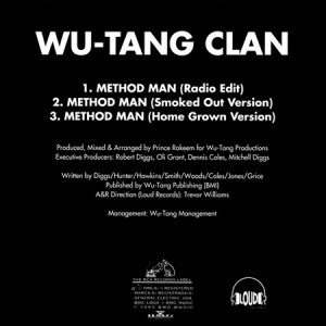 Method Man OG promo single (back)