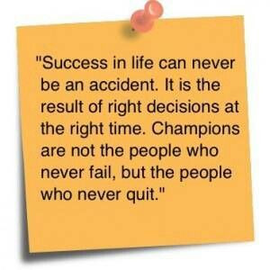 No quitting!