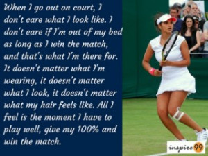 ... look like quote, quote on looks, sania mirza inspirational quote
