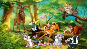 bambi and thumper disney cartoon clip art characters free to download