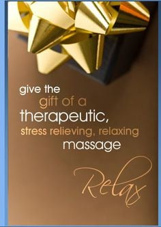 Massage Therapy Gift Card put together with a beautiful soft #SPA ...