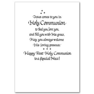 Niece First Communion Card