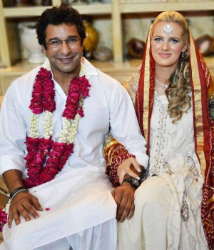Wasim Akram's Wedding (Nikah) to Shaniera: Pictures and Details
