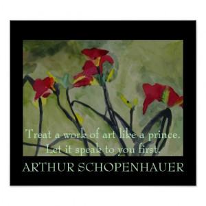 Arthur Schopenhauer Quote - POSTER