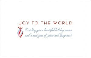 Holiday quotes And Joy To World