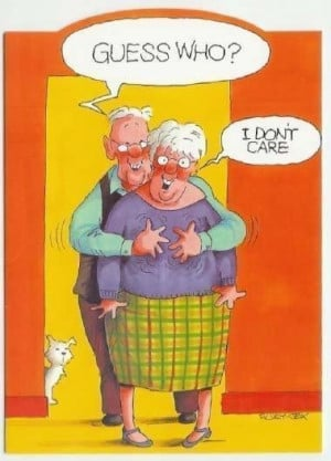 wo old ladies, one somewhat hard of hearing...