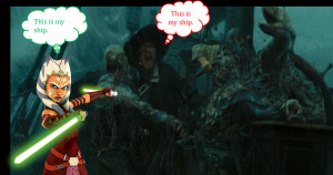 Hector Barbossa and Ahsoka Tano by JediMasterLink18