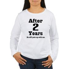 2nd Anniversary Funny Quote Women's Long Sleeve T- for