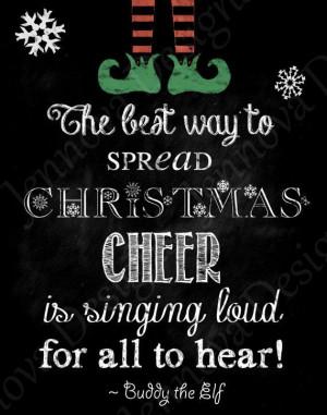 ... 11x14 Elf Christmas Movie Quote Printable by JennovaDesigns, $8.50