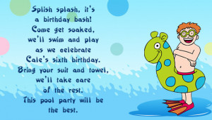 Birthday Invitation Wordings for Kids