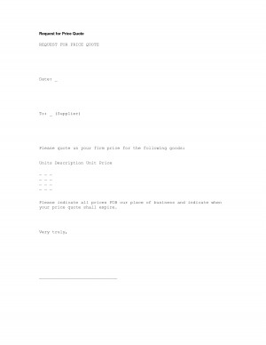 Request for Price Quote Letter Template by pjgriffith