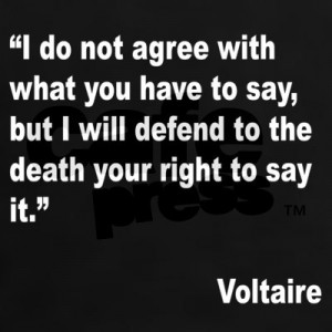 Voltaire: freedom of thought and speech
