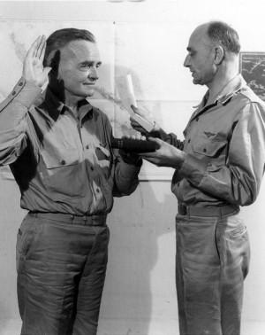 "US Navy Admiral William ""Bull"" Halsey being sworn in as Commander ..."