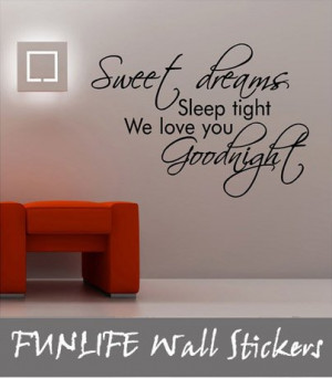 funlife-Sweet-Dreams-Sleep-Tight-bedroom-wall-quote-Vinyl-Kids-Wall ...