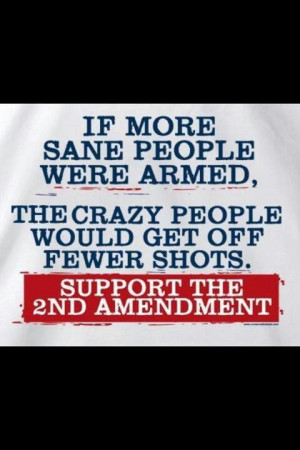 2nd amendment - It's not there for defense of America, it's for