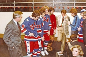 ... Carter. Herb Brooks and 1980 USA victorious Olympic Hockey Team