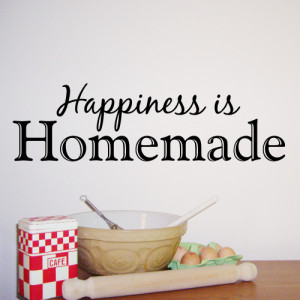 Happiness is Homemade - Kitchen Wall Sticker - WA287X