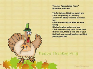 ... TEACHER words. It is so meaning and intelligent on Thanksgiving day