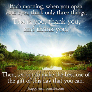 Grateful for another day