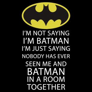 bat, batman, comics, geek, love, quote, room, superhero