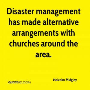 Disaster management has made alternative arrangements with churches ...