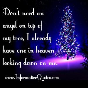 Angel in Heaven Looking Down On Me