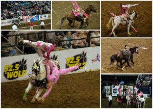 The rodeo also had a barrel racing event, clowns, and a few other ...