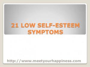21 low self esteem symptoms