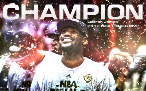 wallpaper of LeBron James who was named 2012 NBA Finals MVP and who ...