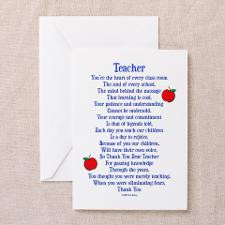 Teacher Thank You Greeting Card for