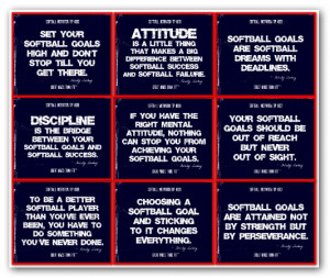 Softball Quotes Poster Collage Gallery
