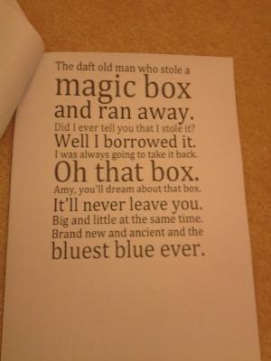 something new, something borrowed, something blue. Remember the doctor ...
