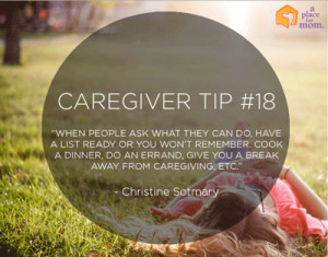 Caregiver Tip #18: Have A List Ready