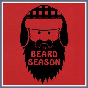 BEARD T SHIRT IT'S BEARD SEASON MOUSTACHE FUNNY NOVELTY TEE