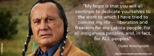 2009 - Russell Means Comments on Obama's Nobel Peace Prize