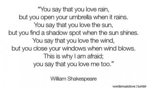... Quotes, Shakespeare Quotes, You Sayings You Love The Rain, Rain