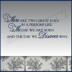 ... are two great days....Family Wall Quotes Words Lettering Sticky Art