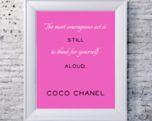 ... Wall Art - Pink Artwork - LGBT Lesbian Gay Pride Art - Famous Quote
