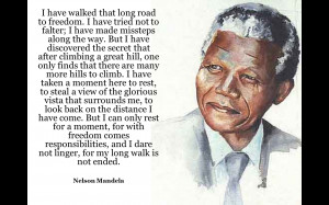 ... of the great hero's of South Africa, and the world, Nelson Mandela