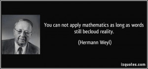 More Hermann Weyl Quotes