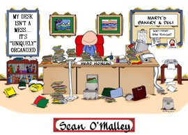 Example of the 'messy desk' print that you can personalize and give to ...