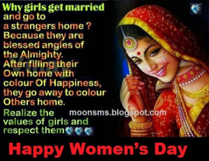 Happy Women's Day 2014 sms message quotes greetings in Hindi English ...