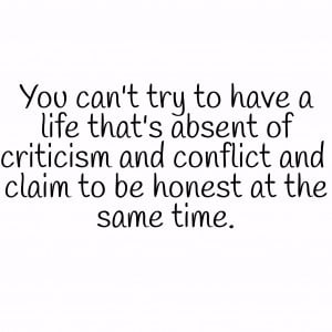 Are you treating all conflict and criticism as 'bad'? Negative ...