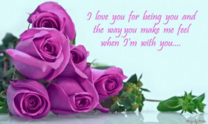 Friendship quotes purple rose flowers with popular quote about love