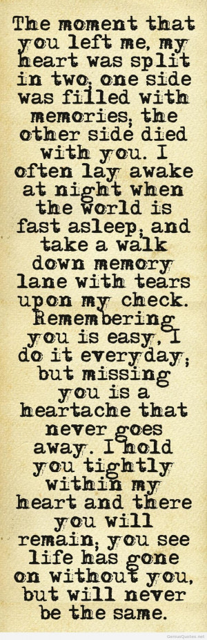 Sayings goodbye and you left me quote